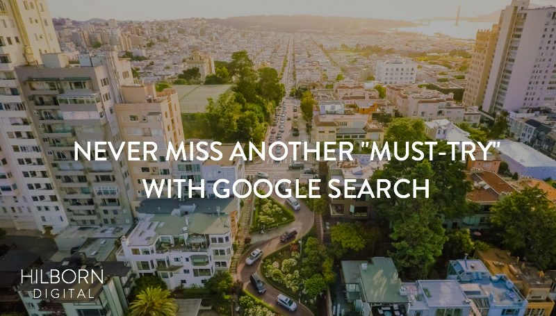 Never miss another must try with google search