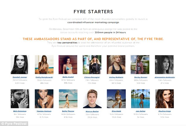 Slides from Fyre Festival pitch