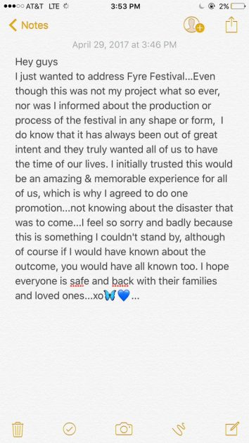 Bella Hadid tweeted (then deleted) this apology