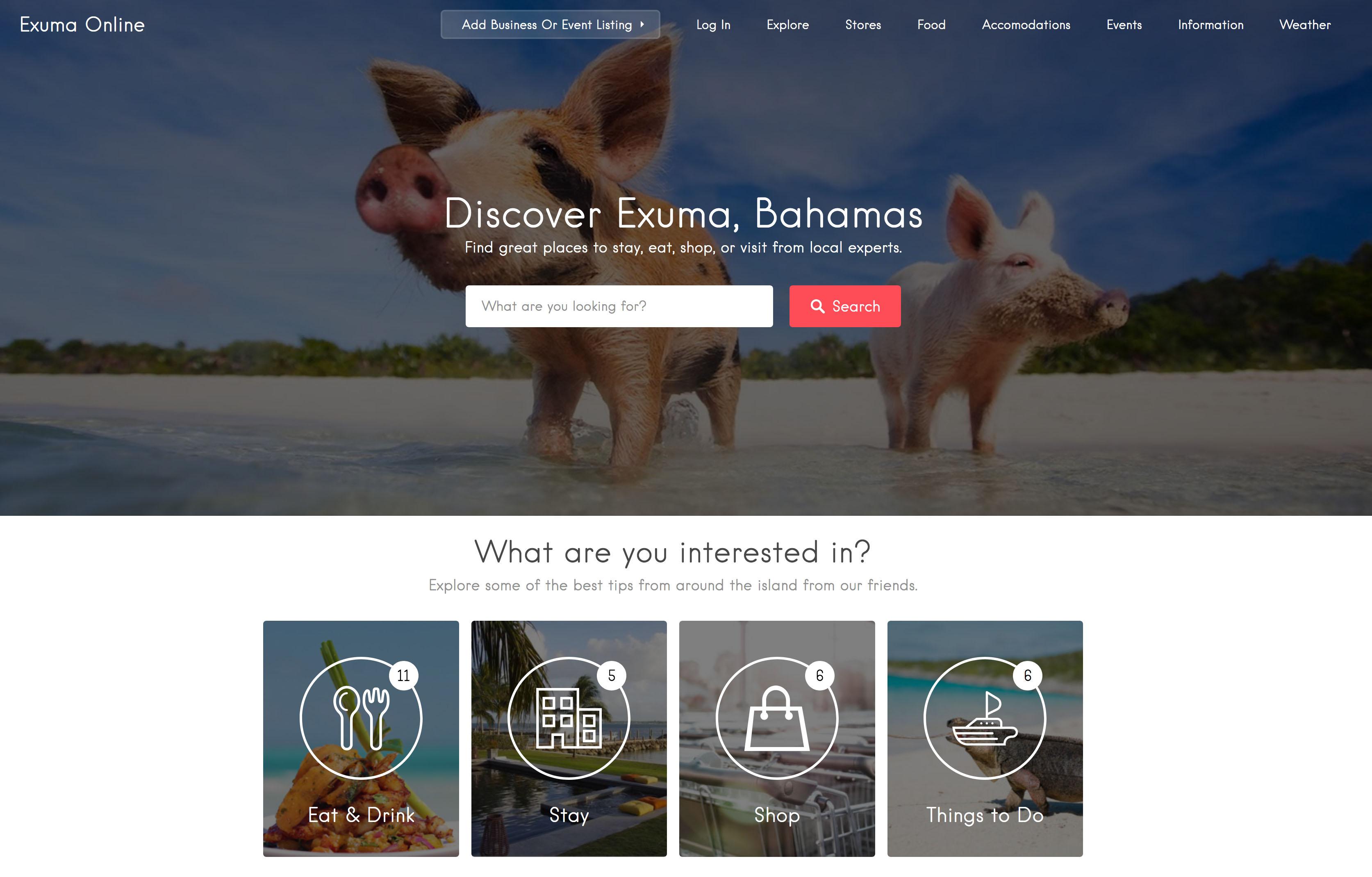 Community - Exuma Online Hilborn Digital Website Design
