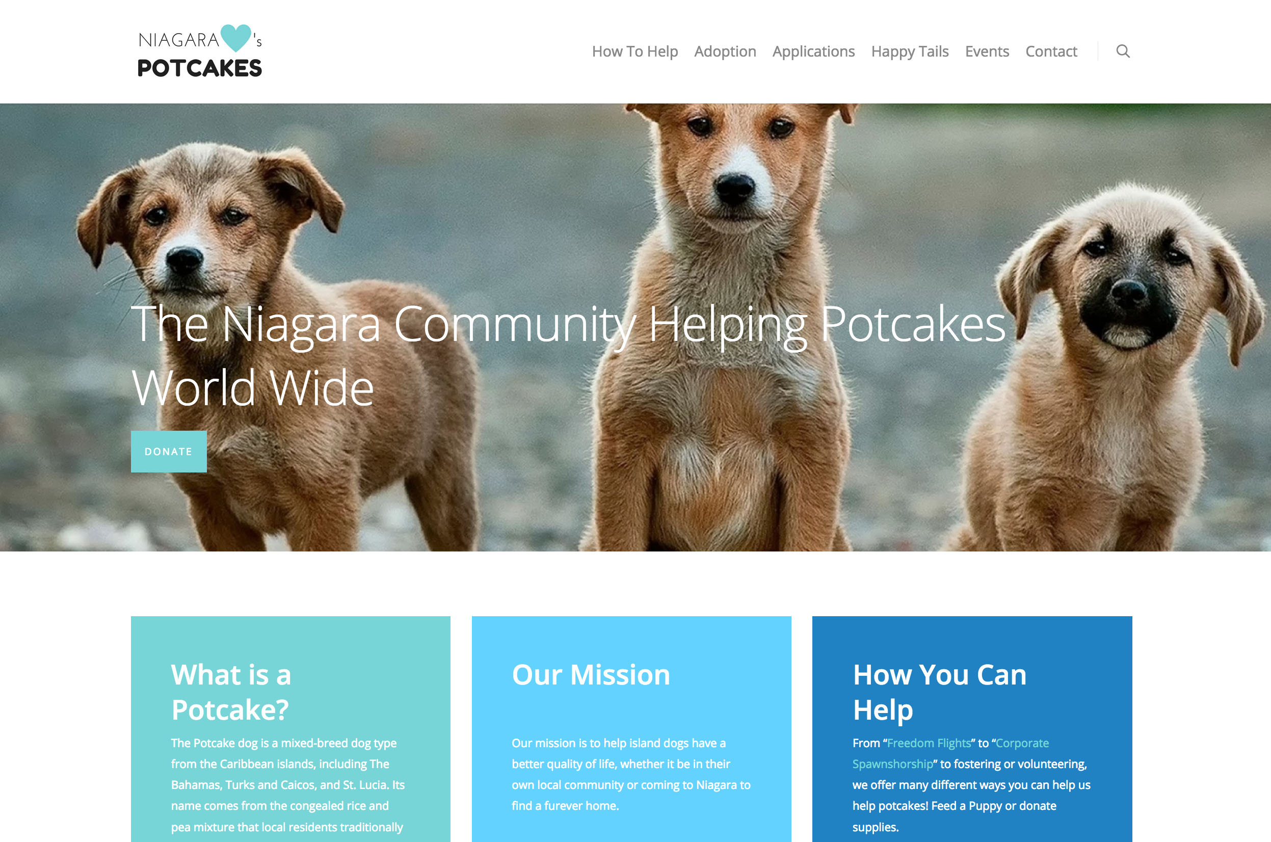 Charity - Niagara Hearts Potcakes - Hilborn Digital Website Design