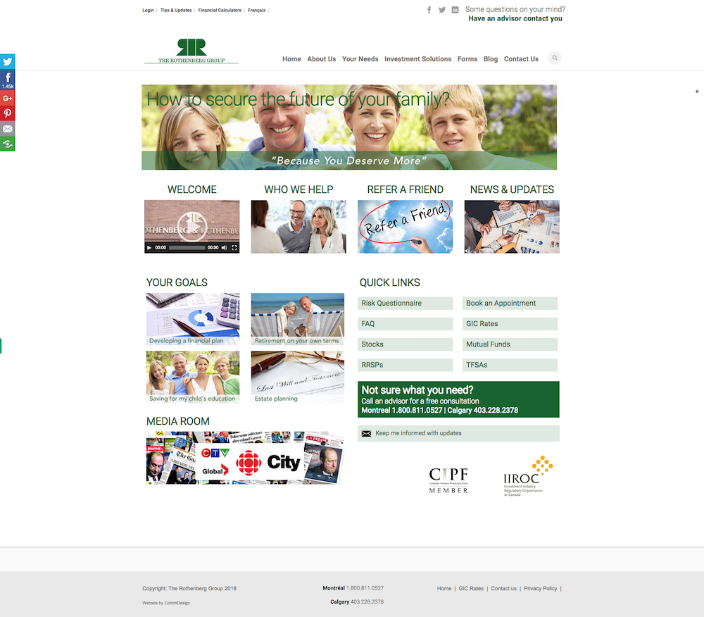 Business Website Design - Rothenberg - Before