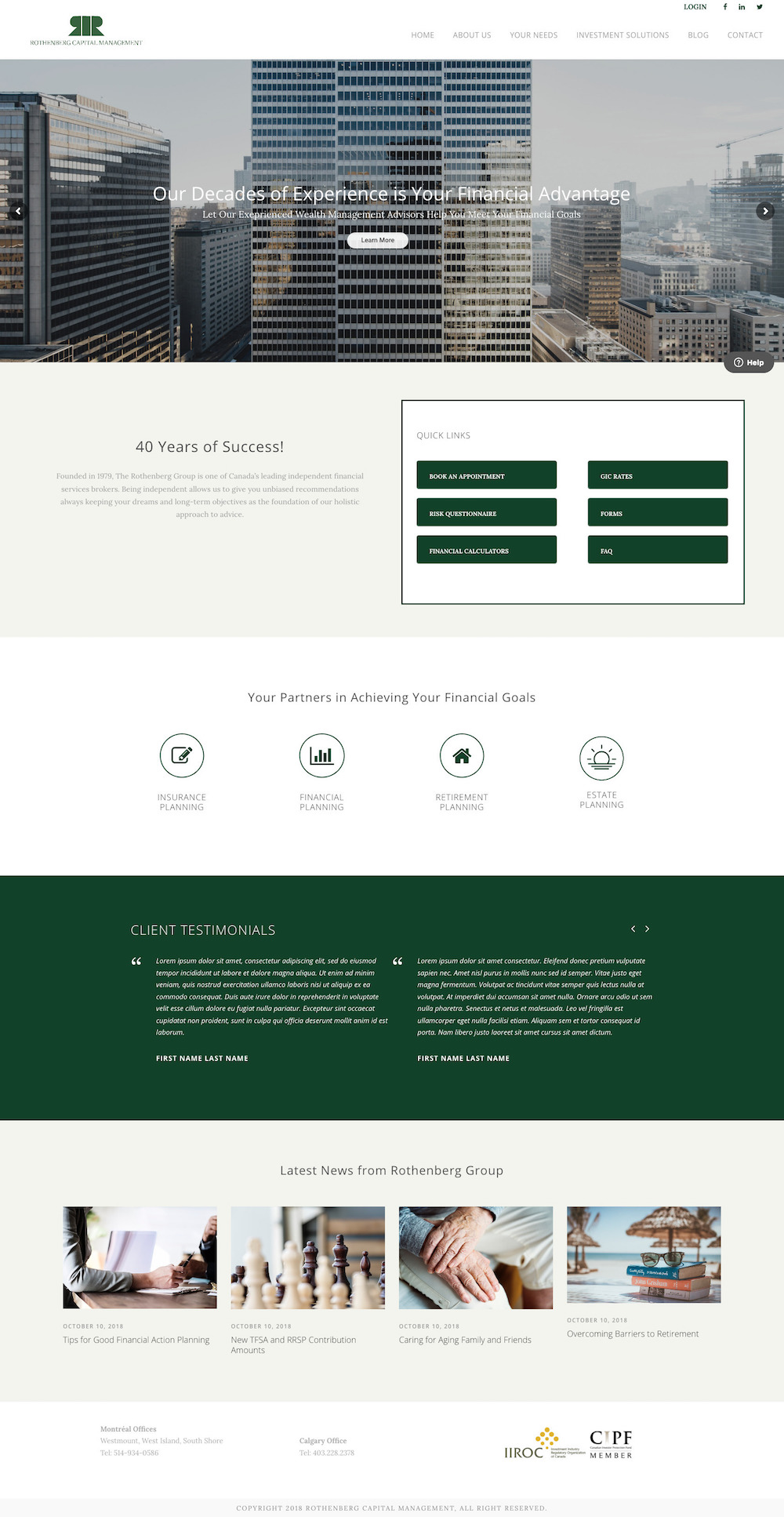 Business Website Design - Rothenberg Capital Management